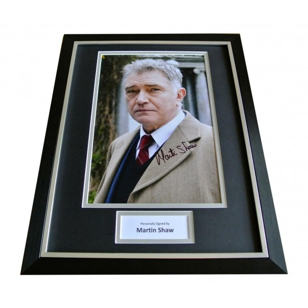 MARTIN SHAW HAND SIGNED & FRAMED AUTOGRAPH PHOTO DISPLAY GEORGE GENTLY & COA