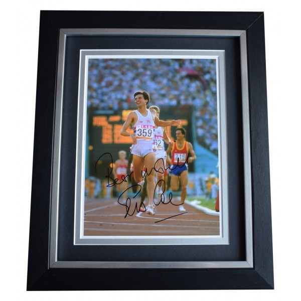 Sebastian Coe SIGNED 10x8 FRAMED Photo Autograph Display Olympic Athletics AFTAL  COA Memorabilia PERFECT GIFT