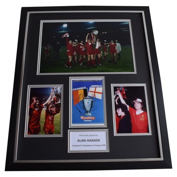 Alan Hansen SIGNED Framed Photo Autograph Huge display Liverpool FC   AFTAL &  COA Memorabilia   perfect gift