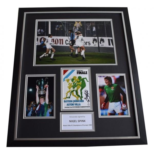 Nigel Spink SIGNED Framed Photo Autograph Huge display Aston Villa    AFTAL &  COA Memorabilia   perfect gift