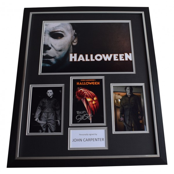 John Carpenter SIGNED Framed Photo Autograph Huge display Halloween     AFTAL &  COA Memorabilia   perfect gift
