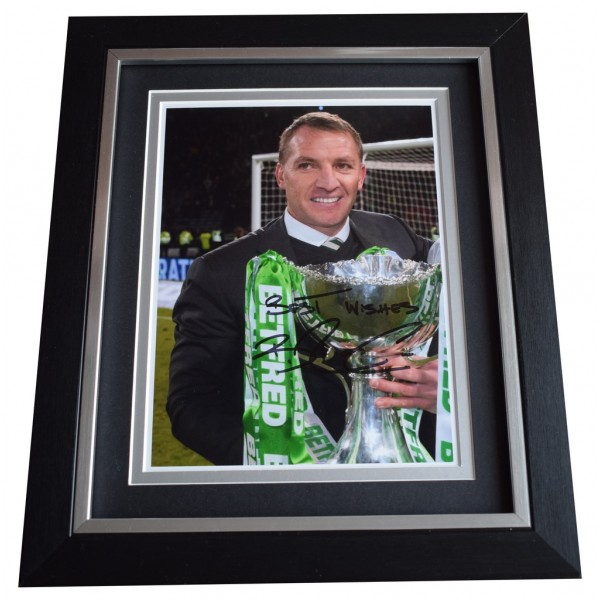 Brendan Rodgers SIGNED 10x8 FRAMED Photo Autograph Display Celtic Football AFTAL  COA Memorabilia PERFECT GIFT