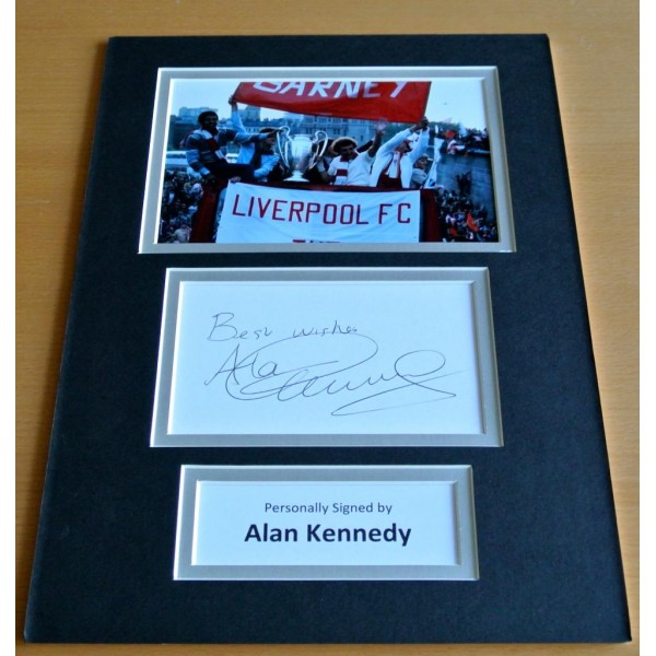 Alan Kennedy SIGNED autograph A4 Photo Mount Display Liverpool Football & COA AFTAL SPORT Memorabilia PERFECT GIFT