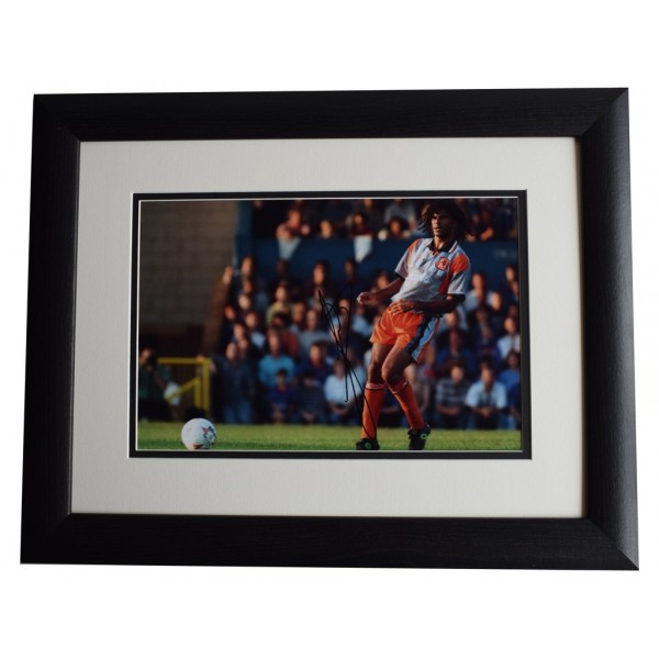 Ruud Gullit SIGNED FRAMED Photo Autograph 16x12 LARGE display Chelsea AFTAL COA
