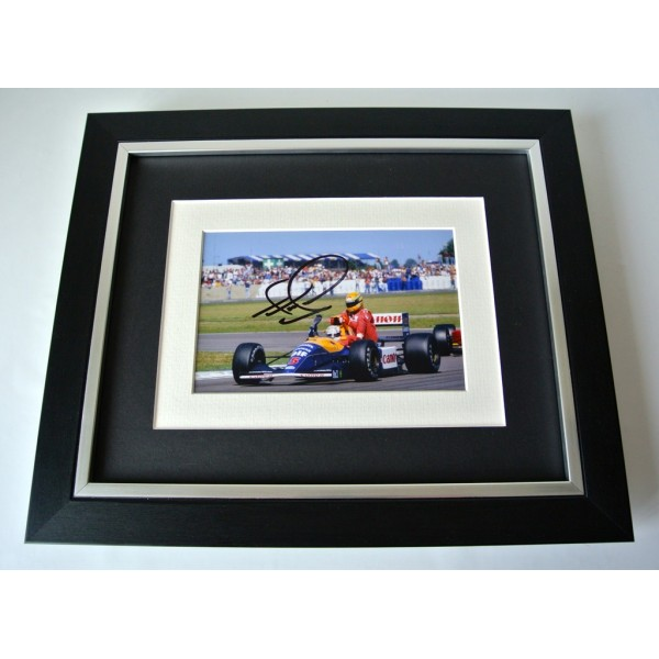 Nigel Mansell SIGNED 10X8 FRAMED Photo Autograph Display Formula 1 Sport & COA