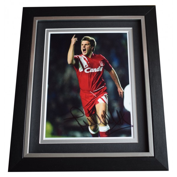 Jan Molby SIGNED 10x8 FRAMED Photo Autograph Display Liverpool Football AFTAL  COA Memorabilia PERFECT GIFT