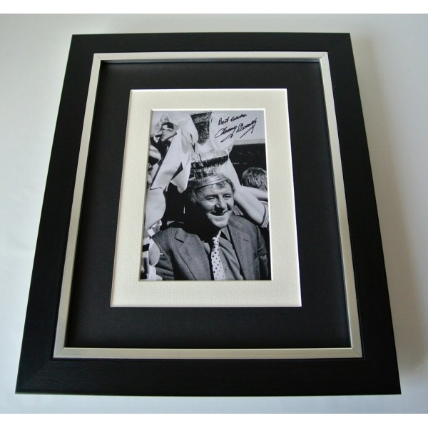 Tommy Docherty SIGNED 10X8 FRAMED Photo Autograph Display Man United PROOF COA