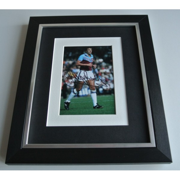 Trevor Brooking SIGNED 10x8 FRAMED Photo Autograph Display West Ham United COA & AFTAL Memorabilia PERFECT GIFT