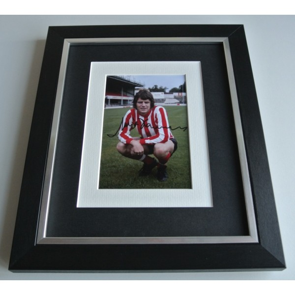 Mick Channon SIGNED 10x8 FRAMED Photo Autograph Display Southampton COA & AFTAL Memorabilia PERFECT GIFT