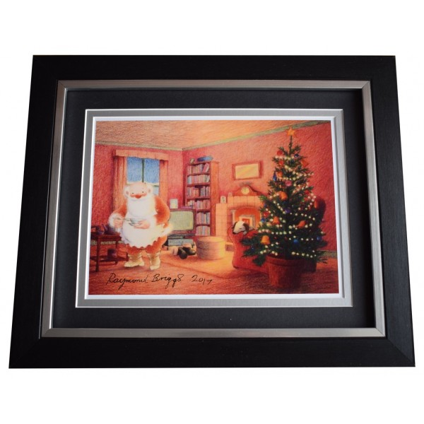 Raymond Briggs SIGNED 10x8 FRAMED Photo Autograph Display Father Christmas    AFTAL  COA Memorabilia PERFECT GIFT