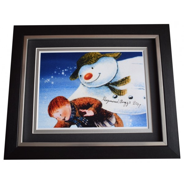 Raymond Briggs SIGNED 10x8 FRAMED Photo Autograph Display The Snowman TV    AFTAL  COA Memorabilia PERFECT GIFT