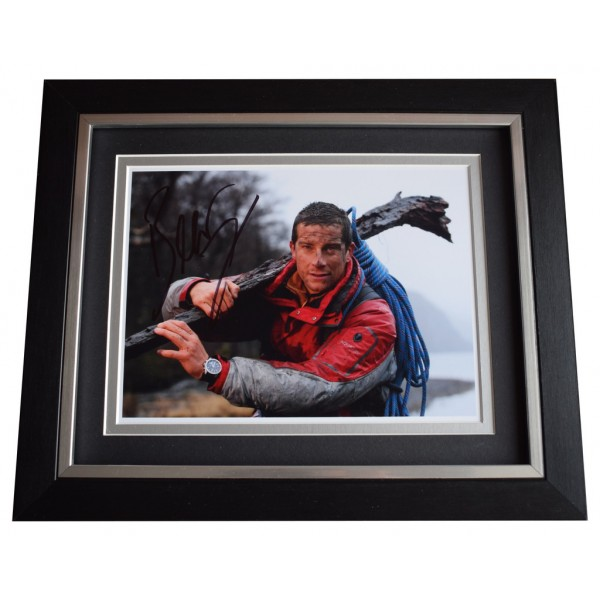Bear Grylls SIGNED 10x8 FRAMED Photo Autograph Display Man V Wild TV  AFTAL  COA Memorabilia PERFECT GIFT