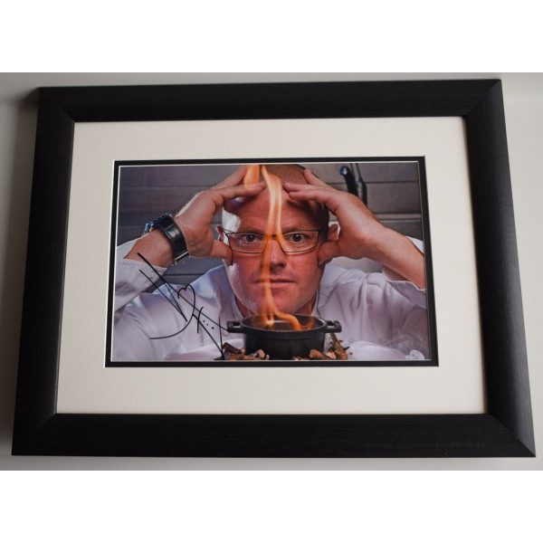 Heston Blumenthal SIGNED FRAMED Photo Autograph 16x12 LARGE display TV Chef COA AFTAL MEMORABILIA