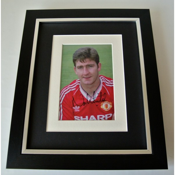 Norman Whiteside SIGNED 10X8 FRAMED Photo Autograph Display Man Utd PROOF COA