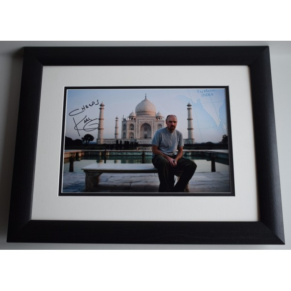 Karl Pilkington SIGNED FRAMED Photo Autograph 16x12 LARGE display Idiot Abroad AFTAL MEMORABILIA