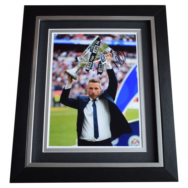 Neil Harris SIGNED 10x8 FRAMED Photo Autograph Display Millwall Football AFTAL  COA Memorabilia PERFECT GIFT
