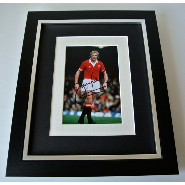 Jimmy Greenhoff SIGNED 10X8 FRAMED Photo Autograph Display Manchester United COA