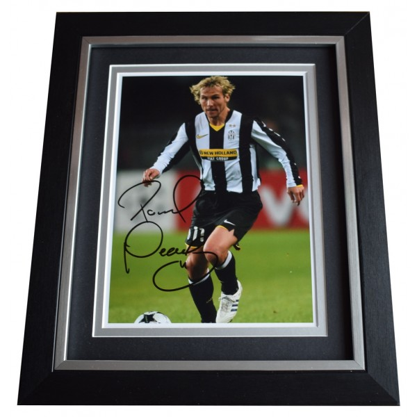 Pavel Nedved SIGNED 10x8 FRAMED Photo Autograph Display Juventus Football  AFTAL  COA Memorabilia PERFECT GIFT