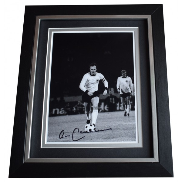 Franz Beckenbauer SIGNED 10x8 FRAMED Photo Autograph Display Germany  AFTAL  COA Memorabilia PERFECT GIFT