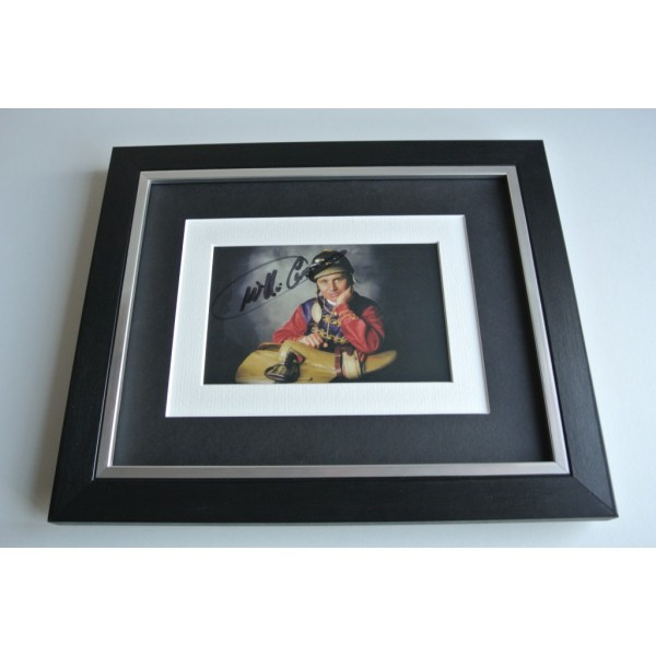 Willie Carson SIGNED 10x8 FRAMED Photo Autograph Display Horse Racing PROOF COA & AFTAL Memorabilia PERFECT GIFT