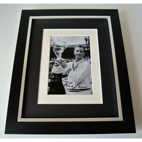 Rod Laver SIGNED 10X8 FRAMED Photo Autograph Display Tennis Memorabilia COA