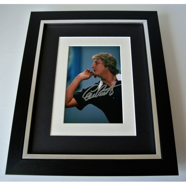 Eric Bristow SIGNED 10X8 FRAMED Photo Autograph Display Darts Signing PROOF COA