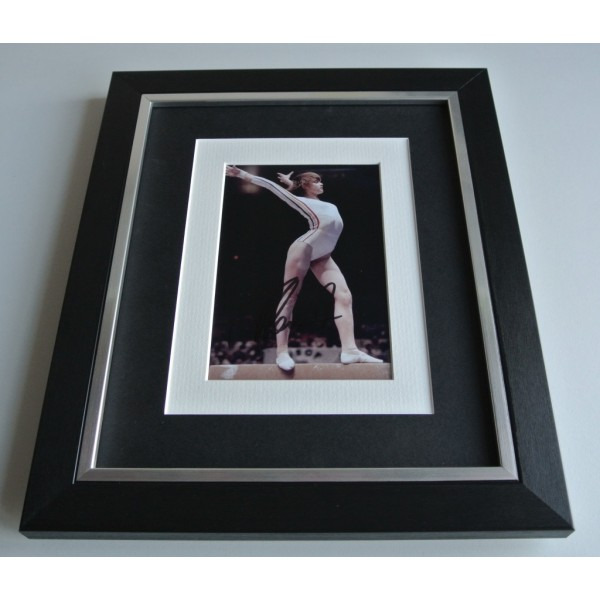 Nadia Comaneci SIGNED 10x8 FRAMED Photo Autograph Display Olympics  COA & AFTAL Memorabilia PERFECT GIFT