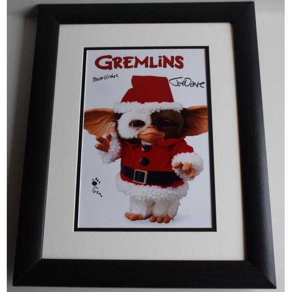 Joe Dante SIGNED FRAMED Photo Autograph 16x12 LARGE display Gremlins Film COA AFTAL MEMORABILIA