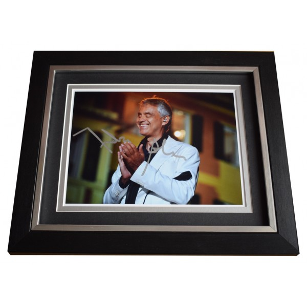 Andrea Bocelli SIGNED 10x8 FRAMED Photo Autograph Display Opera MusicAFTAL  COA Memorabilia PERFECT GIFT