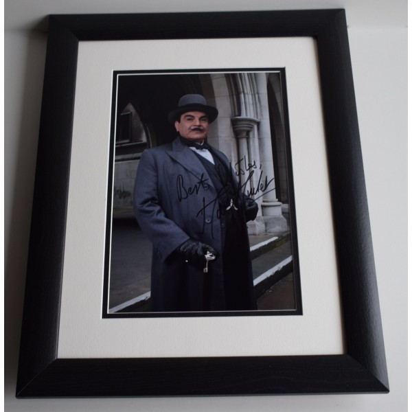 David Suchet SIGNED FRAMED Photo Autograph 16x12 LARGE display Poirot TV & COA AFTAL MEMORABILIA