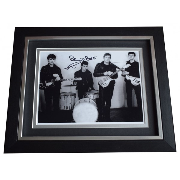 Pete Best SIGNED 10x8 FRAMED Photo Autograph Display The Beatles Music  AFTAL  COA Memorabilia PERFECT GIFT
