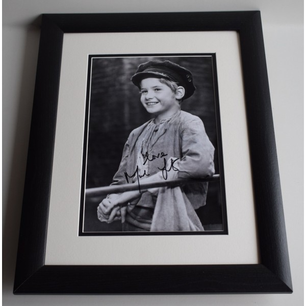 Mark Lester SIGNED FRAMED Photo Autograph 16x12 LARGE display Oliver Film COA AFTAL MEMORABILIA