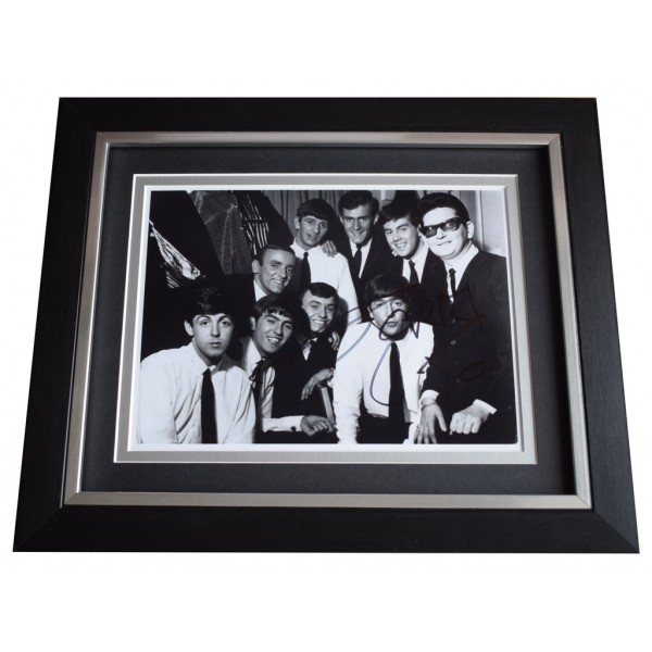 Gerry Marsden SIGNED 10x8 FRAMED Photo Autograph Display Pacemakers Music  AFTAL  COA Memorabilia PERFECT GIFT