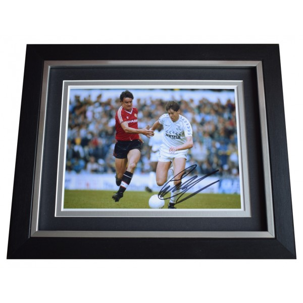 Chris Waddle SIGNED 10x8 FRAMED Photo Autograph Display Tottenham Football  AFTAL  COA Memorabilia PERFECT GIFT