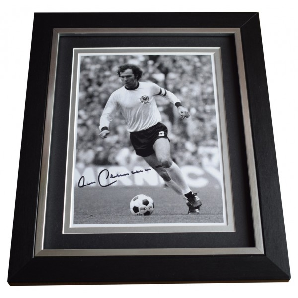 Franz Beckenbauer SIGNED 10x8 FRAMED Photo Autograph Display German AFTAL  COA Memorabilia PERFECT GIFT