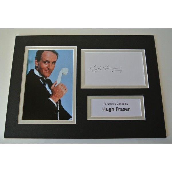 Hugh Fraser Signed Autograph A4 photo mount display Poirot Captain Hastings COA