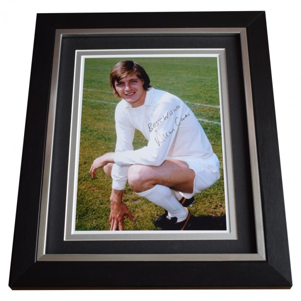 Allan Clarke SIGNED 10x8 FRAMED Photo Autograph Display Leeds United AFTAL  COA Memorabilia PERFECT GIFT