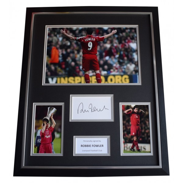 Robbie Fowler SIGNED Framed Photo Autograph Huge display Liverpool Football AFTAL  COA Memorabilia PERFECT GIFT