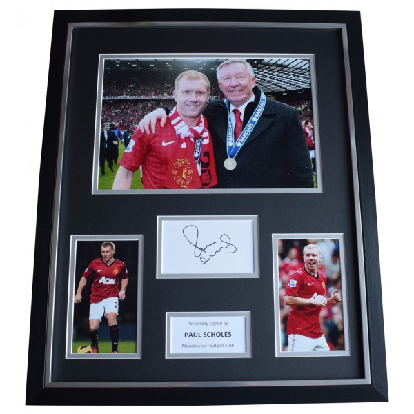 Paul Scholes SIGNED Framed Photo Autograph Huge display Manchester United  AFTAL  COA Memorabilia PERFECT GIFT