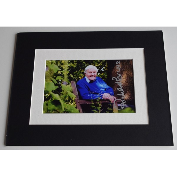 Richard Briers Signed Autograph 10x8 photo mount display Good Life TV AFTAL COA AFTAL MEMORABILIA