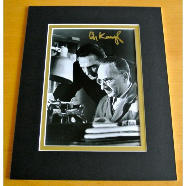 BEN KINGSLEY SIGNED AUTOGRAPH 10X8 PHOTO MOUNT DISPLAY SCHINDLERS LIST FILM COA   PERFECT GIFT