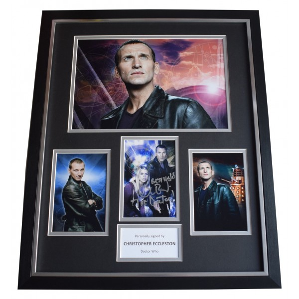 Christopher Eccleston SIGNED Framed Photo Autograph Huge display Doctor Who AFTAL  COA Memorabilia PERFECT GIFT