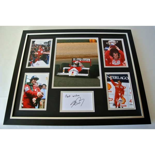Alain Prost SIGNED FRAMED Photo Autograph Huge display Formula 1 Sport & COA