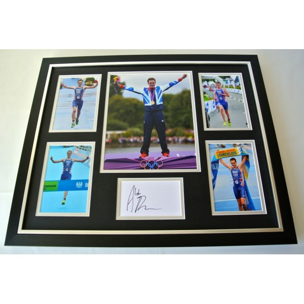 Alistair Brownlee SIGNED FRAMED Photo Autograph Huge display Triathlon & COA