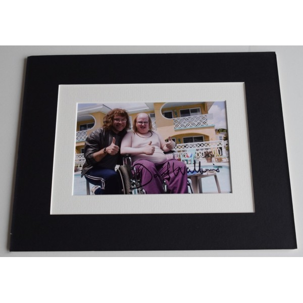 David Walliams Signed Autograph 10x8 photo mount display TV Little Britain & COA AFTAL MEMORABILIA