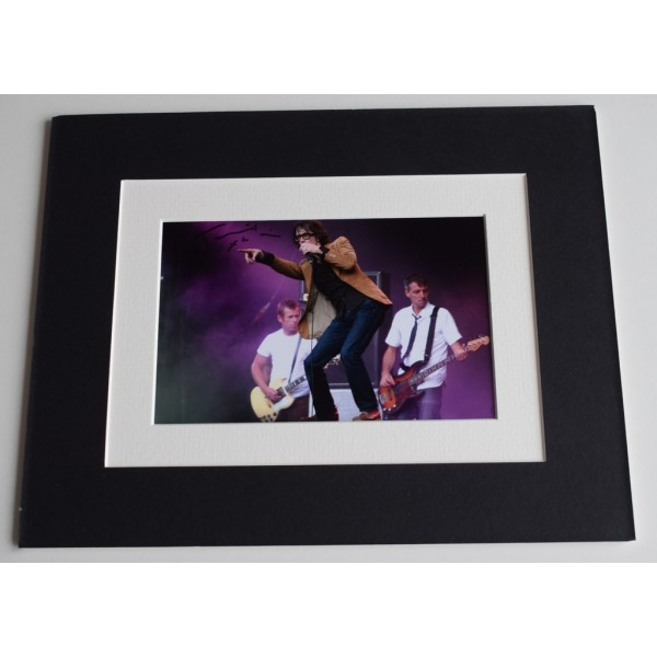 Jarvis Cocker Signed Autograph 10x8 photo mount display Pulp Music AFTAL & COA AFTAL MEMORABILIA