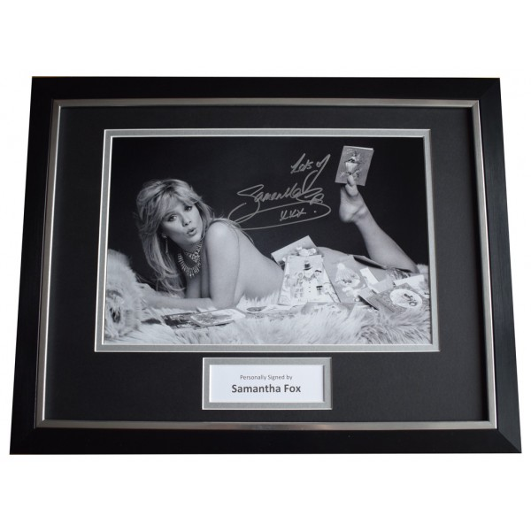 Samantha Fox Signed FRAMED Photo Autograph 16x12 display Page 3 Model AFTAL  COA Memorabilia PERFECT GIFT