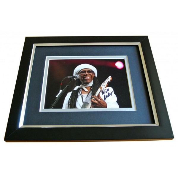 Nile Rodgers SIGNED 10x8 FRAMED Photo Autograph Display Chic Le Freak Music COA PERFECT GIFT