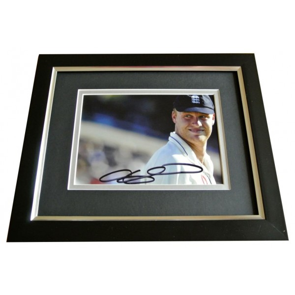 Andrew Freddie Flintoff SIGNED 10x8 FRAMED Photo Autograph Display Cricket & COA PERFECT GIFT