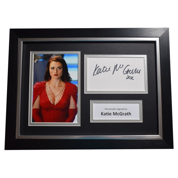 Katie McGrath SIGNED A4 FRAMED Autograph Photo Display TV Supergirl   AFTAL  COA Memorabilia PERFECT GIFT